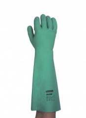 JACKSON SAFETY* G80 Перчатки для защиты от воздействия химических веществ - 45 см, индивидуальный дизайн для левой и правой руки / Зеленый /8