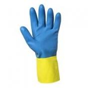 JACKSON SAFETY* G80 Неопреновые перчатки для защиты от химических веществ - 30см, индивидуальный дизайн для левой и правой руки / Желтый и голубой /9