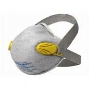 JACKSON SAFETY* R20 FFP2 NR Респираторы с двойным клапаном, угольным фильтром и широким ремешком - Формованный / С защитой от неприятных запахов /Желтая цветовая кодировка