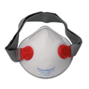 JACKSON SAFETY* R30 FFP3 NRD Респиратор с двойным клапаном и широким ремешком - Формованный / Красный /L