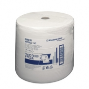 WYPALL* L40 Протирочные салфетки - Большой рулон / Белый