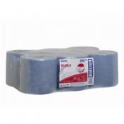WYPALL* L20 Протирочные салфетки - Рулон с центральной подачей / Синий
