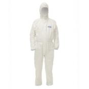 KLEENGUARD* A40 Воздухопроницаемый комбинезон для защиты от брызг жидкостей и твердых частиц - С капюшоном / Белый /XL